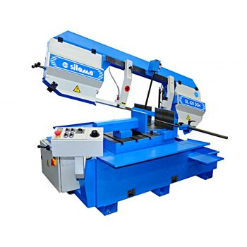 Horizontal band saws with swing frame